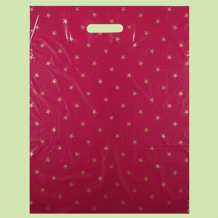 Чанта Звезди ЧЕРВЕНИ - серия 25+ - Чанти от полиетилен
