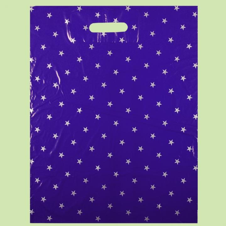 Чанта Звезди СИНИ - серия 25+ - Чанти от полиетилен