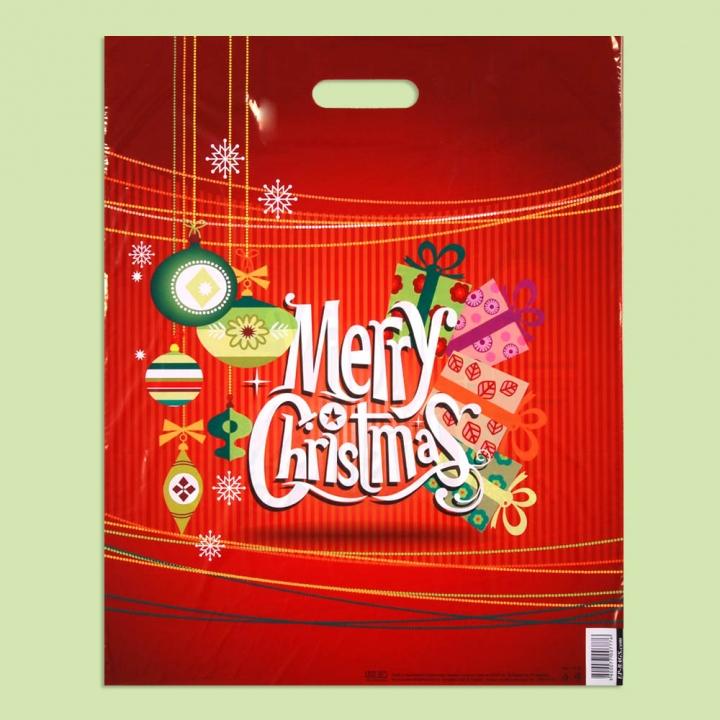 "Чанта ""Коледни подаръци"" - Чанти от полиетилен"