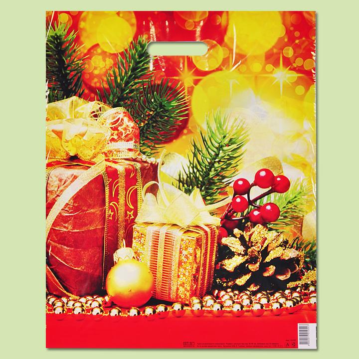 """Чанта """"Златна Коледа"""" - Чанти от полиетилен"""
