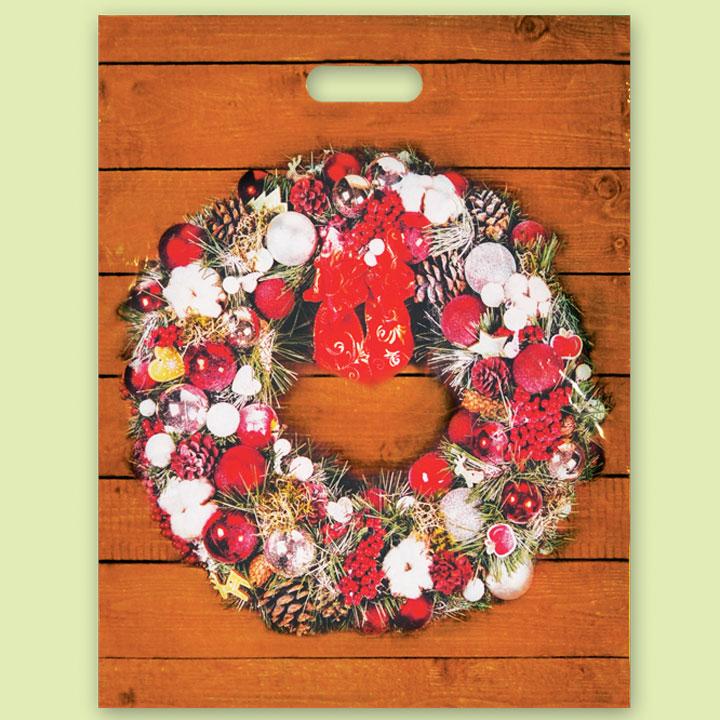 """Чанта """"Коледен венец"""" - Чанти от полиетилен"""