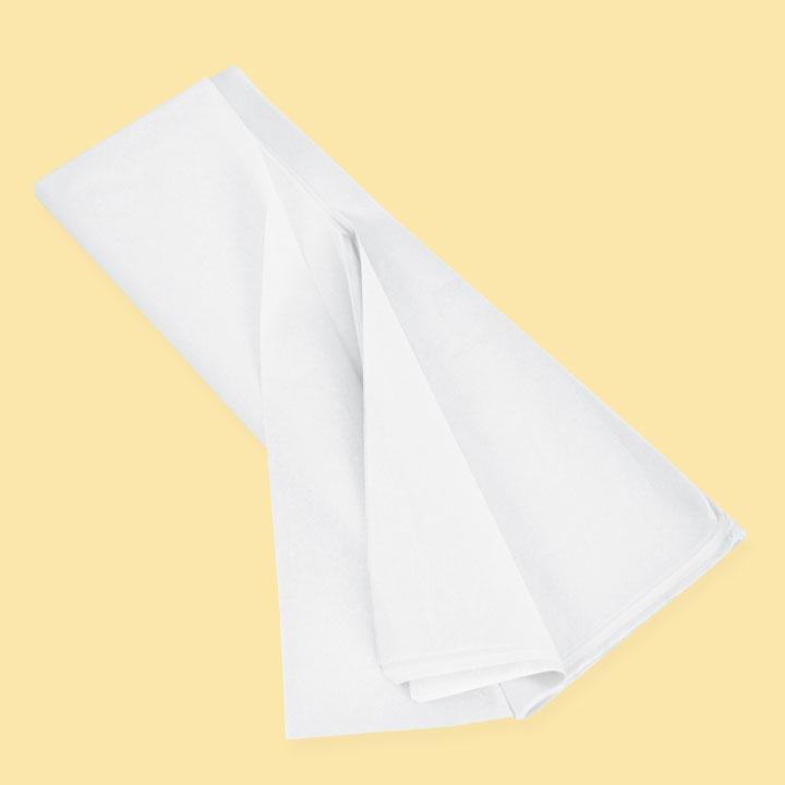 Тишу хартия 50х75 (20 бр), бял  SC L045 - За подаръци и цветя