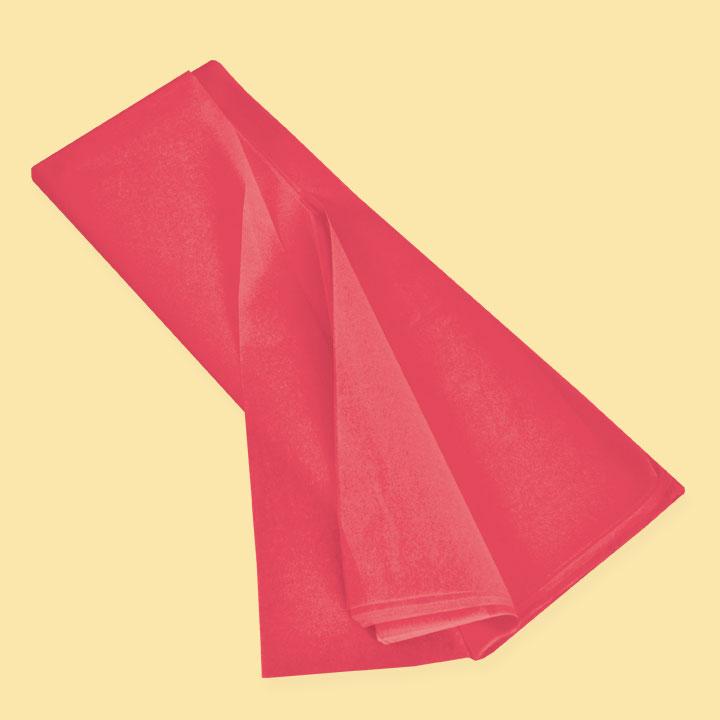 Тишу хартия 50х75 (20 бр), червен  SC L185 - За подаръци и цветя