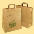 """Стандартни хартиени чанти - Натурална чанта """"Кошница"""" EP–N 910 с плоски дръжки"""