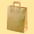 Стандартни хартиени чанти - Натурална чанта EP–N 911-плоски дръжки