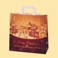 """Коледа и Нова година - Хартиена чанта """"Коледна нощ"""""""