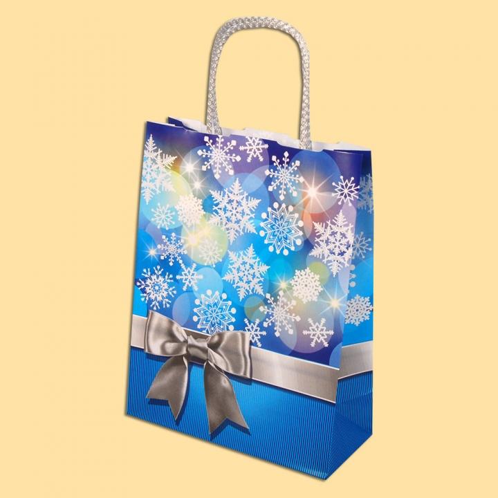 Панделка - синя ЕР-Е 100 - Луксозни хартиени чанти