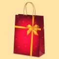 Коледа и Нова година - Подаръчна със златна панделка L1-857
