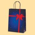 Коледа и Нова година - Подаръчна с червена панделка L1-858
