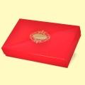 Коледа и Нова година - Подаръчна кутия с капак 37x23/7, червена с печат